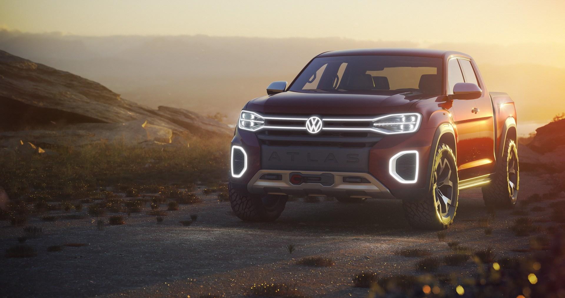 Volkswagen Atlas Tanoak 2018. Koncepcyjny pickup na bazie SUVa