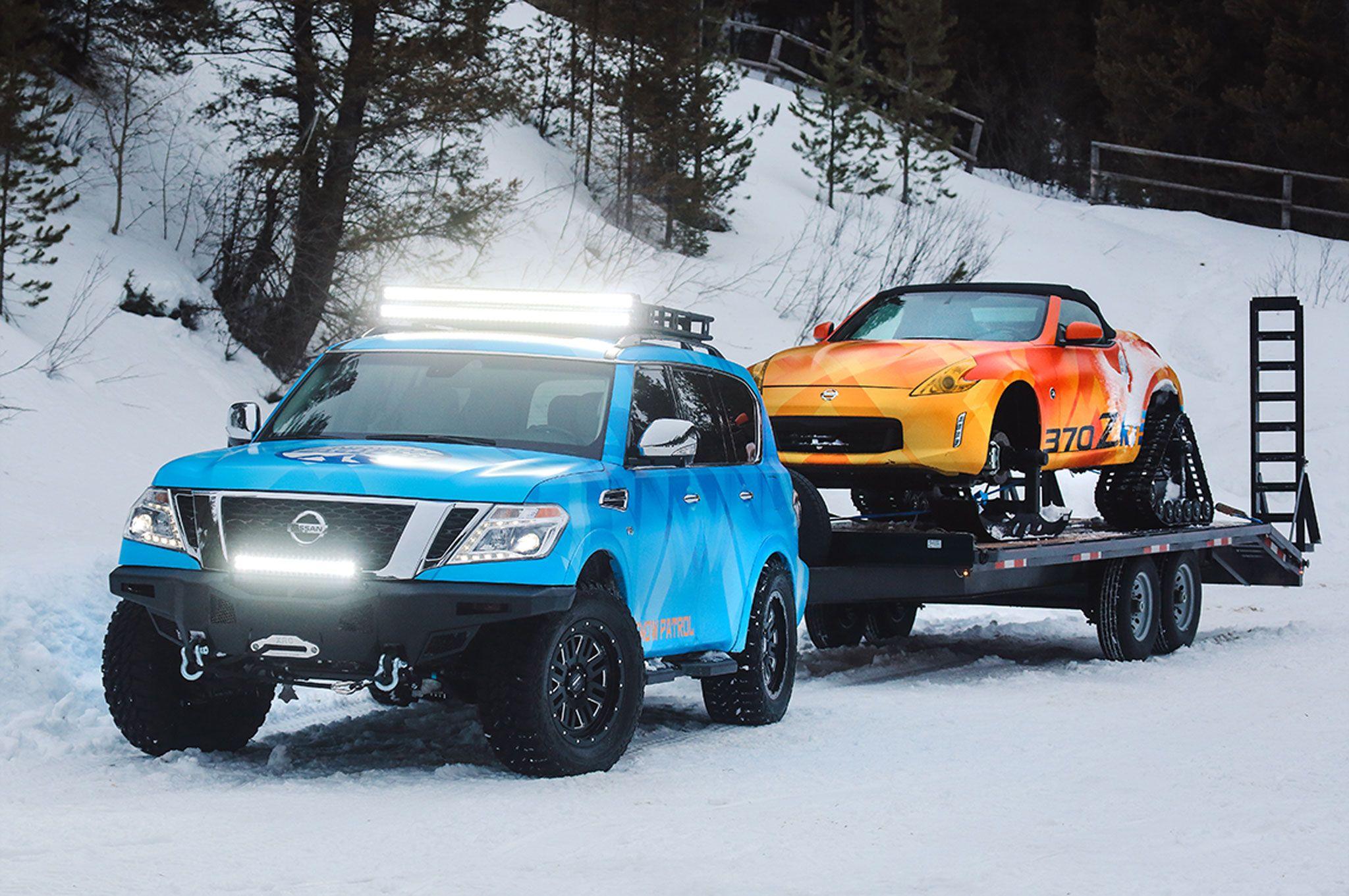 Terenowy Nissan 370Z? Więcej: Nissan 370Z do jazdy po śniegu
